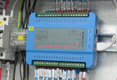 Un cuadro de conexión eléctrica para equipos de alta tensión procedentes de unas centrales de producción de energía eléctrica