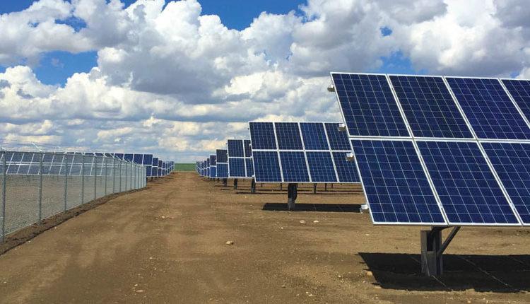 Uno de los huertos solares instalados en España
